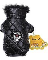 Fuloon Manteau/Vêtement/Veste/Capuche/Trench Etanche Hiver-Coat pour Petit Chien Chiot Pet