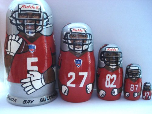 Tampa Bay Buccaneers NFL Football or any team Russian Nesting doll 5 pcs / 6 in