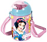 Disney Princess Polypropylene Pop Up Canteen Bottle, 450ml, Violet/Light Blue