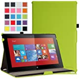 MoKo Nokia Lumia 2520 Case - Slim-Fit Multi-angle Stand Cover Case for Nokia Lumia 2520 10.1 Inch Microsoft Windows RT 8.1 Tablet, GREEN (With Smart Cover Auto Wake / Sleep)