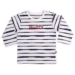 Buzzy Baby Boys' Cotton Long Sleeve T-Shirt (Benzi_Indigo_9-12M)
