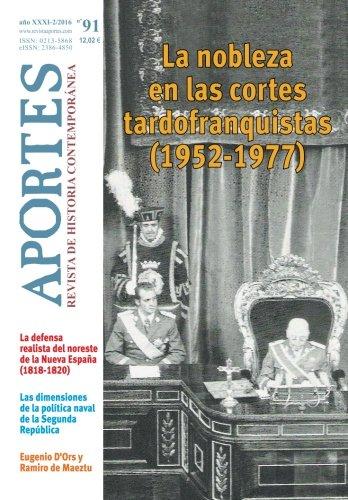 Aportes. Revista de Historia Contemporánea 91, XXXI (2/2016)
