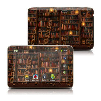 Library Design Protective Decal Skin Sticker For Latte Ice Smart 5 Inch Hd Smart Media Tablet front-882926