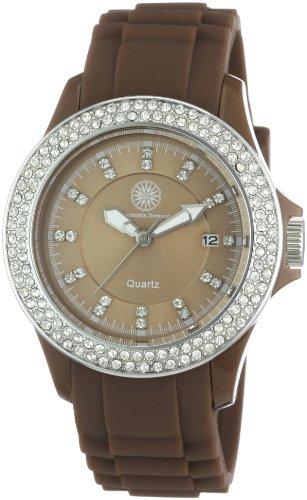 Constantin Durmont CD-VIVL-QZ-RBBR-PCSL-BR-C - Reloj analógico de cuarzo para mujer con correa de silicona, color marrón