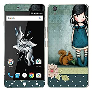 Theskinmantra Girl pet mobile decal/skin (IT IS NOT A BACK COVER) for OnePlus X