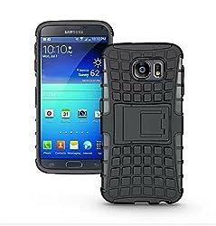 Samsung Galaxy S6 Armor Case, PC+TPU Hybrid Curve KickStand Impact Armor Hard Protect Cover