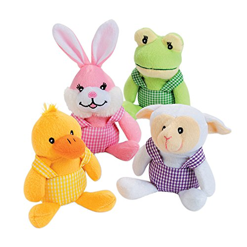 4 Piece Set Soft Plush Easter Characters