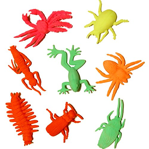 Dazzling Toys Grow-an-insect Toy Figures - (4 Dozen) Perfect to Drop in Goody Bags At a Party, Assorted Colors and Styles - 1