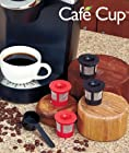 Cafe CupTM 4 Pack (For use with Keurig Coffe Makers) Includes BONUS Cafe Scoop For Accurate Fillings! US Not compatible with Keurig mini B30