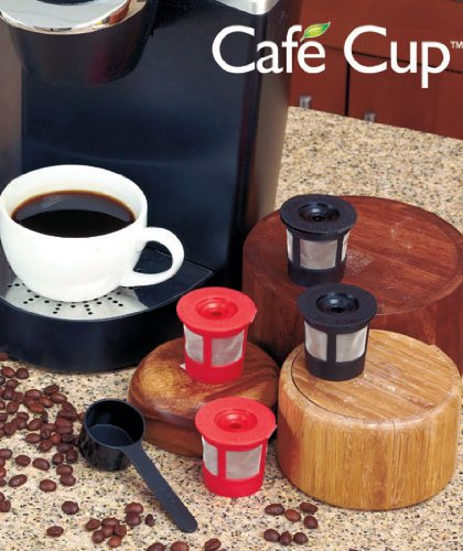 Cafe Cuptm 4 Pack (For Use With Keurig Coffe Makers) Includes Bonus Cafe Scoop For Accurate Fillings! Us Not Compatible With Keurig Mini B30, B130, B150 And B155.