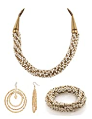 Voylla Mixed Combo Of Fashionable Bracelet, Necklace And Earrings