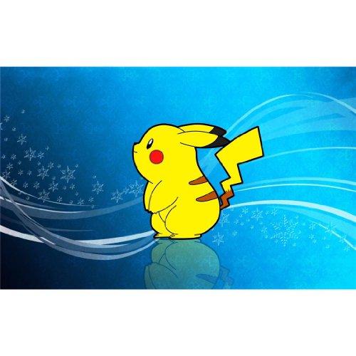 Pikachu-Poster-On-Silk-56cm-x-35cm-22inch-x-14inch-Cartel-de-Seda-380245