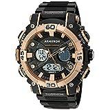 Armitron Sport Men's Quartz Resin Fitness Watch, Color:Black (Model: 20/5108BRG)