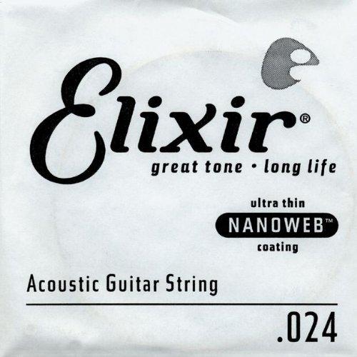 Elixir Strings Acoustic Guitar String NANOWEB Coating, .024
