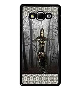 PrintDhaba Fantasy Girl D-6016 Back Case Cover for SAMSUNG GALAXY A8 (Multi-Coloured)