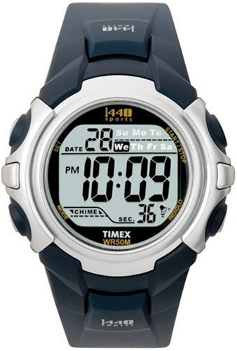 Timex Mens T5J571 1440 Sports Digital Blue Resin Strap Watch