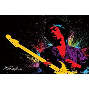 Jimi Hendrix - Paint - Maxi Poster - 61 cm x 91.5 cm