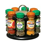 Premier Housewares Spice Rack with 8 Schwartz Spices - Black