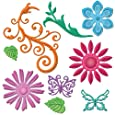 Spellbinders S5-143 Shapeabilities Positively Me Jewel Flowers and Flourishes Die Templates