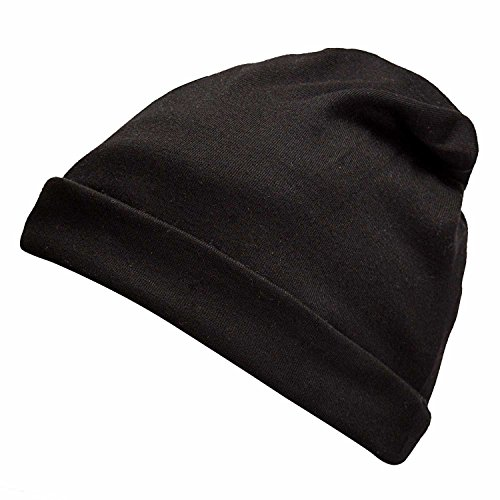 Orgrim Fashion Winter Classic 2 in 1 Baggy Hat and Neck Wrap Scarf Beanies Cap Hat for Women Men (Black) (Skull Cap Pattern Sewing compare prices)