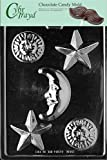 Cybrtrayd M147 Celestial Assortment Chocolate Candy Mold with Exclusive Cybrtrayd Copyrighted Chocolate Molding Instructions