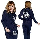 【大きいサイズあり】クラウンロゴ付き スエット ウェアー 上下セット トレーニング パジャマ 部屋着に最適 (ブラックXXL)