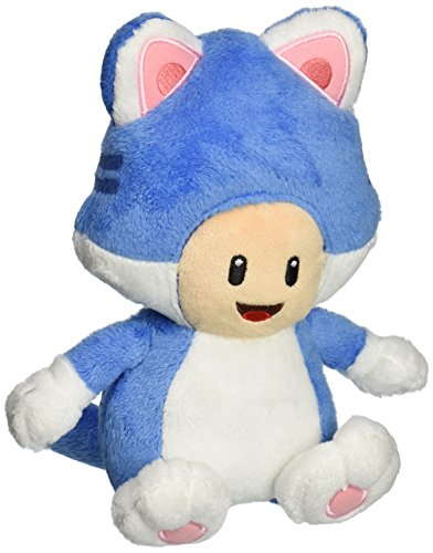 "Little Buddy USA Super Mario: 7"" Neko Cat Toad Plush"