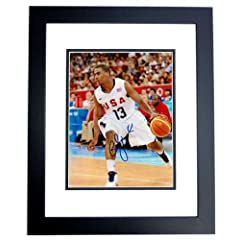 Chris Paul Autographed Hand Signed TEAM USA 8x10 Photo - BLACK CUSTOM FRAME - Los...