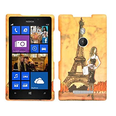 Cell Armor Snap Case for Nokia Lumia 925 - Retail Packaging - Girl and Eiffel Tower by Cell Armor
