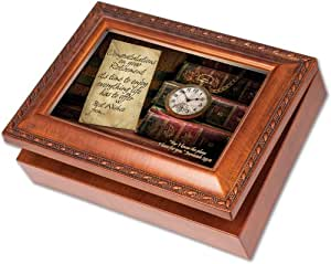 cottage garden retirement woodgrain music box jewelry box plays amazing grace. Black Bedroom Furniture Sets. Home Design Ideas