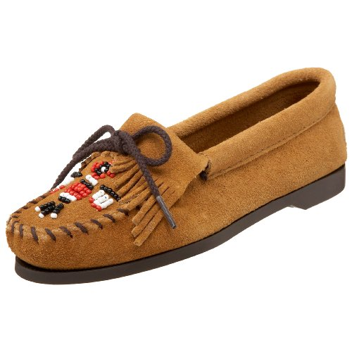 Minnetonka Women's 177 Thunderbird Moccasin,Tan,7 M US