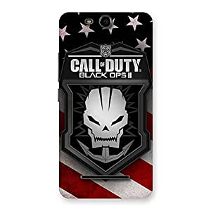 Delighted Duty Calling Back Case Cover for Micromax Canvas Juice 3 Q392