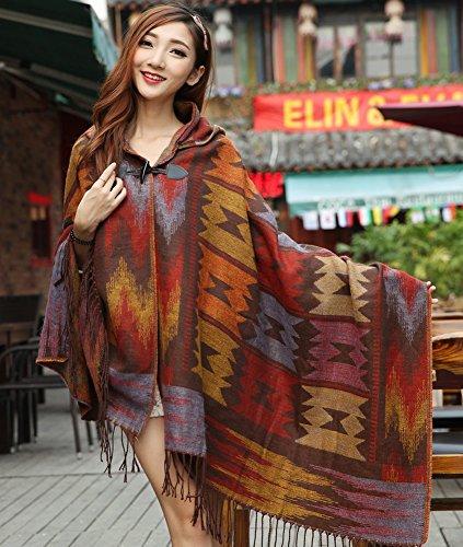 Tonwhar® Women's Tassel Pashmina Shawl Wrap Bohemia Poncho