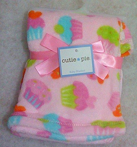 Cutie Pie Baby Blanket Girl Pink Cupcake Printed - 1