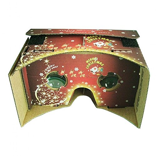CHICHO Christmas DIY Google Cardboard Virtual Reality VR 3D Glasses for iPhone 6 5S 5.0 Android Smartphone