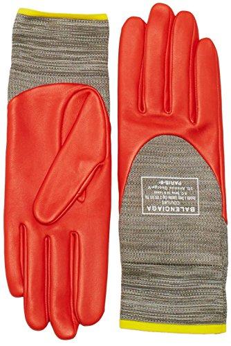 Balenciaga -  Guanti  - Donna, grigio (grigio/rosso), Taglia unica