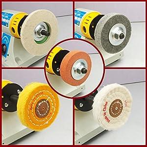 350W Bench Lathe Polisher Jewelry Jade Rock Polishing Buffer Machine - 110V (Color: yellow)