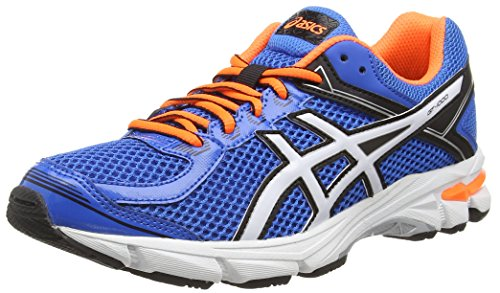 ASICS Gt-1000 4 Gs -  Scarpe da corsa, unisex per adulto, colore blu (electric blue/white/orange 3901), taglia 38 EU (4.5 UK)