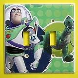 Buzz Lightyear Rex Toy Story Double Switch Plate switchplate #3