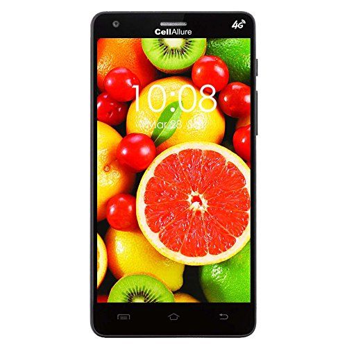 CELLALLURE Smart III 5.0 GSM Multi Carrier No Contract Android Smartphone - Retail Packaging