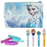Disney Frozen Girls Travel and Accessory Set - Elsa Mini Bag, Bracelets & Lip Gloss