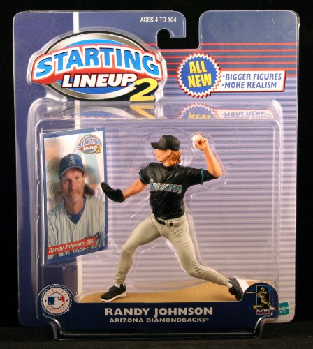 RANDY JOHNSON / ARIZONA DIAMONDBACKS 2001 MLB Starting Lineup 2 Action Figure & Exclusive Trading Card