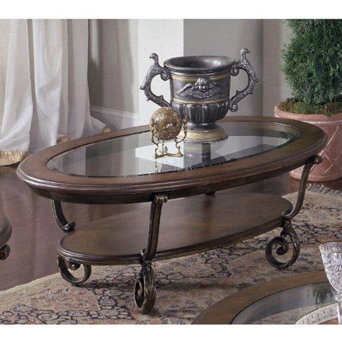 riverside furniture riverside fortunado oval coffee table b005tvo0o2