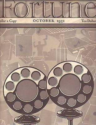 1931 Fortune October - Radio Microphones Cover - Ellis