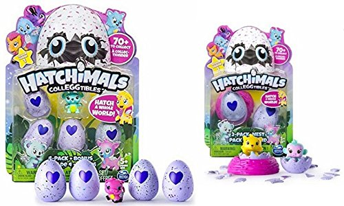 Hatchimals à Collectionner - Pack de 5+2 Figurines + 1 Nid