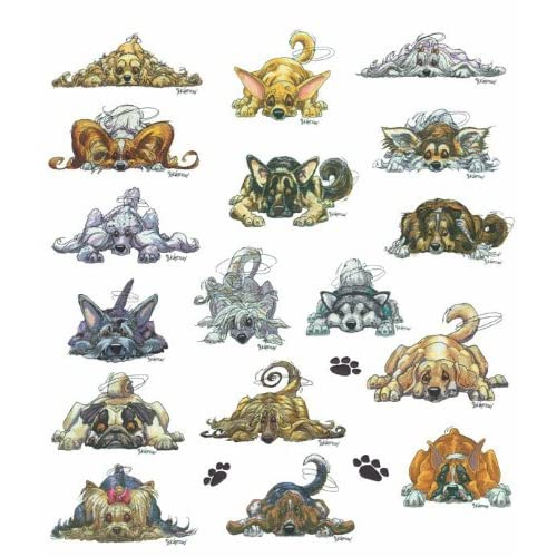 Rug Dogs Embroidery Designs