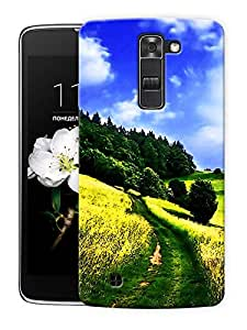 "Open Blue Sky Printed Designer Mobile Back Cover For ""LG K10"" By Humor Gang (3D, Matte Finish, Premium Quality, Protective Snap On Slim Hard Phone Case, Multi Color)"