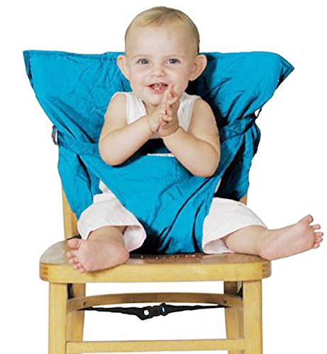 Aisi® Infant Baby Travel High Chair Seat Cover, Portable Easy Seats (Light Blue) (Totseat Chair Harness compare prices)