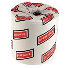 "Boardwalk 6145 4"" Length x 3"" Width, 2-Ply Standard Roll Bath Tissue (Case of 96)"