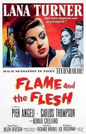 Flame and the Flesh 1954 ORIGINAL MOVIE POSTER Lana Turner Drama